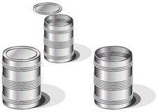 Cans Royalty Free Stock Photo