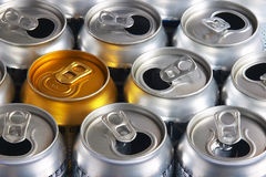 Cans. Cold drinks can Stock Photo