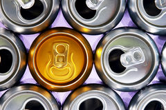 Cans. Cold drinks can Stock Photos