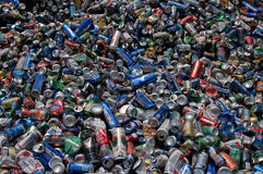 Cans aluminum pile Stock Image