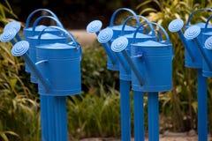 Cans av blått Fotografering för Bildbyråer