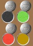 Cans av olika produkter Arkivbilder