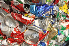 Cans background Stock Photos