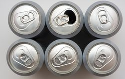Cans of beer Stock Images