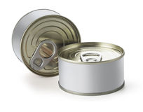 Cans with blank Royalty Free Stock Images