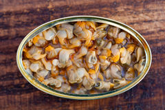 Cans of canned cockles Royalty Free Stock Images