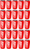 Cans of cola. Illustration of 25 cans of cola vector illustration