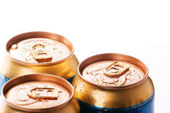 Cans of cold drinks Stock Image