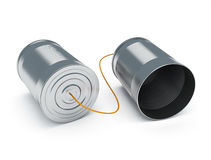 Cans communication Royalty Free Stock Image