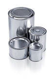 Cans with different sizes Stock Images