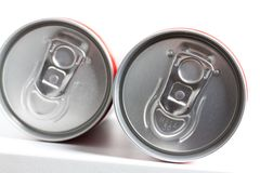 Cans filled with soda Stock Photography