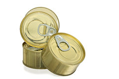 Cans of food stock photo
