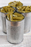 Cans of Green Beans Stock Photo