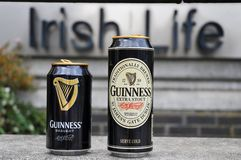 Cans of Guinness Stock Image