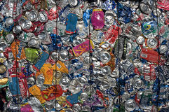 Cans multicolor Stock Image