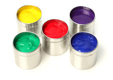 Cans of paint Royalty Free Stock Photography