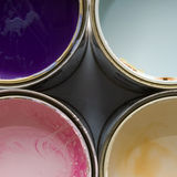 Cans of paint Royalty Free Stock Photo