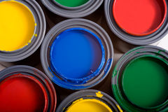 Cans of Paint Stock Photos
