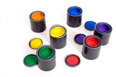 Cans of Paint Royalty Free Stock Photos