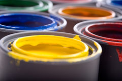 Cans of Paint Stock Photography