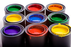 Cans of Paint Stock Image