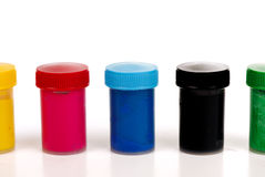 Cans of paint colors Stock Photo