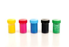 Cans of paint colors Stock Images