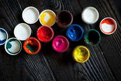 Cans of paint Royalty Free Stock Images
