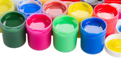 Cans of paints Royalty Free Stock Photography