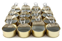 Cans of preserved Stock Photography