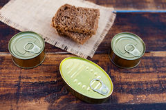 Cans of preserves Royalty Free Stock Photography