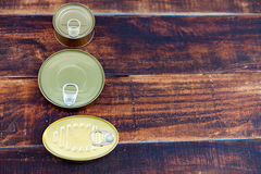 Cans of preserves Royalty Free Stock Photo
