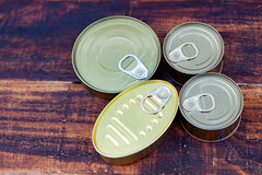 Cans of preserves Stock Images
