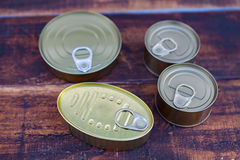 Cans of preserves Stock Photos