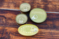 Cans of preserves Royalty Free Stock Photos