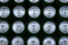 Cans in production Stock Image