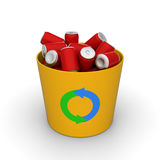 Cans in a recycle bin Royalty Free Stock Image