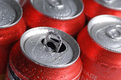 Cans of Soft Drink or Beer Stock Photo