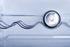 Cans of soft drink in a Refrigerator Royalty Free Stock Photography