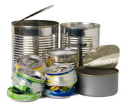 Cans and tins royalty free stock image