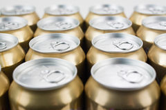 Cans together Stock Image