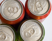 Cans, top view Royalty Free Stock Images