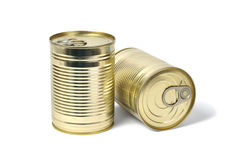 Cans on White Royalty Free Stock Photos