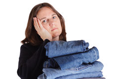 Cansado da lavanderia Imagens de Stock Royalty Free