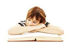 Cansado de escuela. Foto de archivo libre de regalías