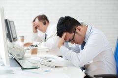Cansado do trabalho Fotografia de Stock