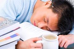 Cansado no estudo Foto de Stock
