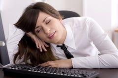 Cansado no trabalho Imagem de Stock Royalty Free