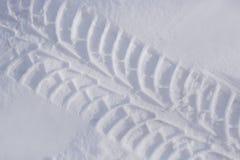 Canse a trilha na neve Fotografia de Stock