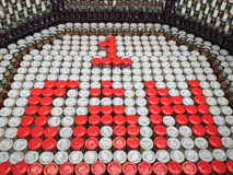 CanStruction charity - Sculptures Made from Cans Stock Photo